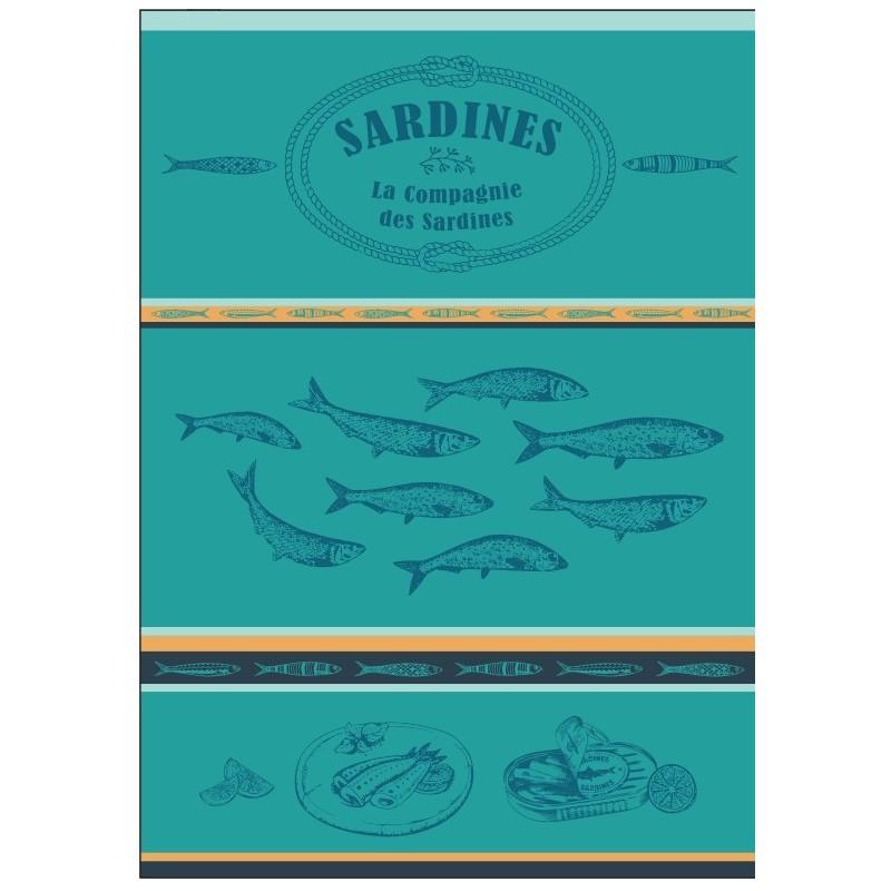 Torchon Jacquard Sardine Ocean
