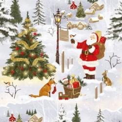Tissu Coton de Noël Father Naturel
