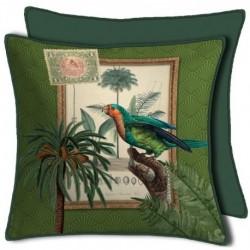 Housse de Coussin Curiosite Vert Perroquet 50x50 cm