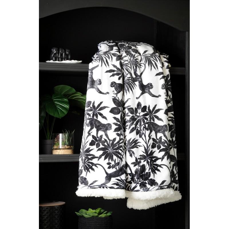 Plaid Sapajou Noir 130x160 cm