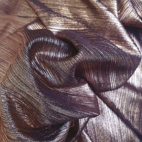 Tissu Jersey Foil Bronze