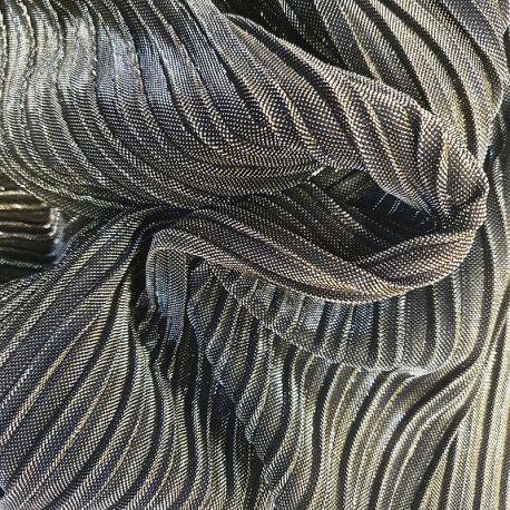 Tissu Plissé Brillant Argent