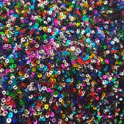 Tissu Sequin Cocktail Rainbow Multico
