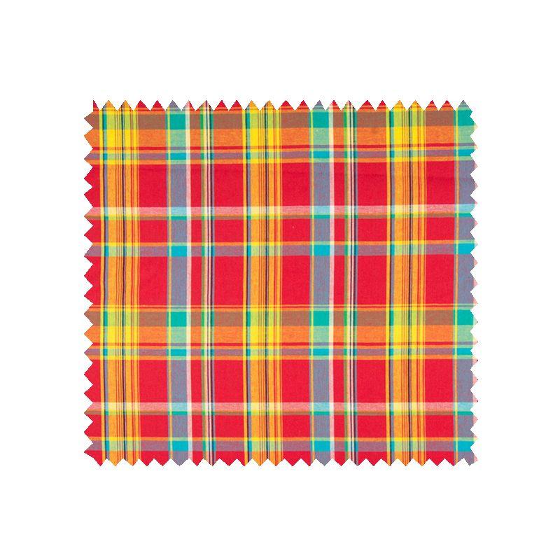 echantillon tissu madras rouge tissus des ursules. Black Bedroom Furniture Sets. Home Design Ideas