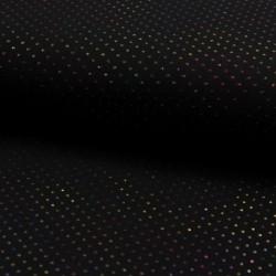 Tissu Double Gaze Paillette Noir