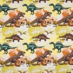 Tissu Jersey Imprimé Dinosaure