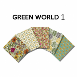 Un Lot de 5 Coupons Green World Multico 45x55 cm
