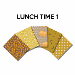Un Lot de 5 Coupons Lunch Time Multico 45x55 cm