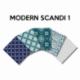 Un Lot de 5 Coupons de Tissu Modern Scandi Multico 45x55 cm