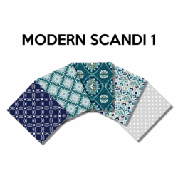 Un Lot de 5 Coupons Modern Scandi Multico 45x55 cm