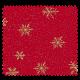 Tissu Coton De Noël Imprimé All Over Etoile Fond Rouge