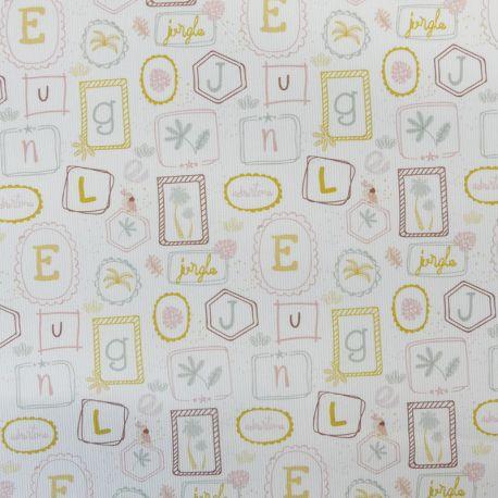 Tissu Wanda Piqué Alphabet