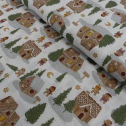 Tissu Kodiak Imprimé Maison pain D'épice