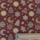 Tissu Kodiak Imprimé Noël Fond Terracotta