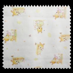 Tissu Coton Imprimé Printemps Beige