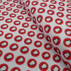 Tissu Coton Imprimé Digital Pingouin