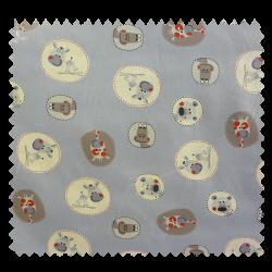 Tissu Coton Imprimé Anibule Bleu
