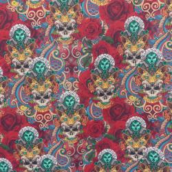 Tissu Cretonne Joyaux Imprimé Multicolore