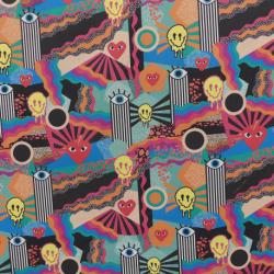 Tissu Cretonne Imprimé Multicolore