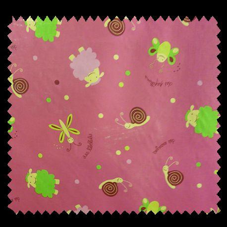 Tissu Coton Imprimé Youpla Rose