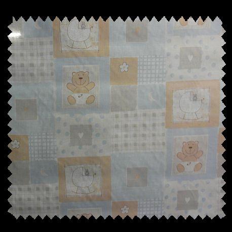 Tissu Coton Imprimé Loupio Bleu