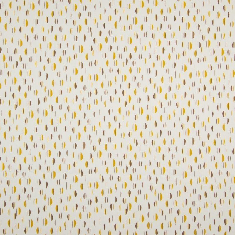 Tissu Coton Imprimé Bio Haricot Ocre
