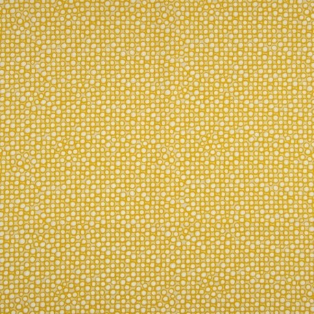 Tissu Coton Imprimé Bio Cercle Ocre