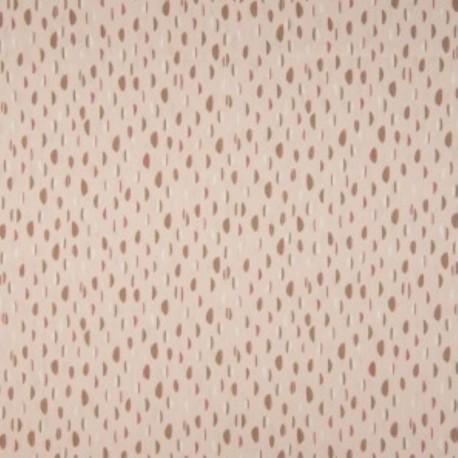 Tissu Coton Imprimé Bio Haricot Vieux Rose