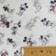 Tissu Popeline Doodle Mickey Imprimé Blanc