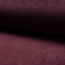 Tissu Polaire Panda Uni Bordeaux