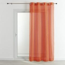Tissu Voilage Etamine Unie Beluga Terracotta brique