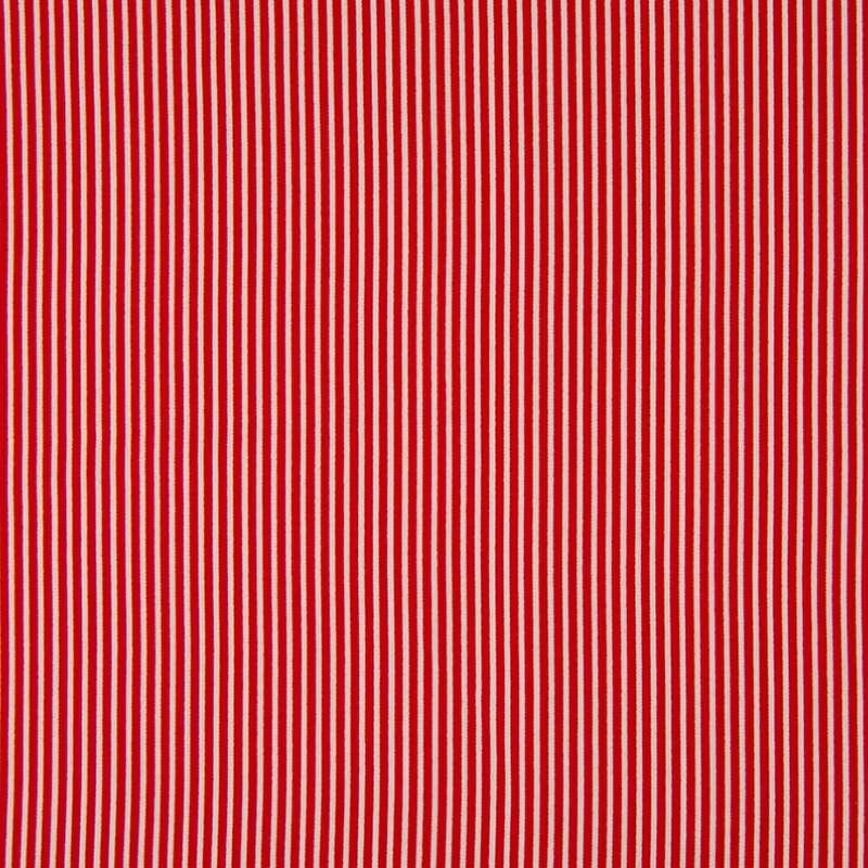 Tissu Rayé Rouge