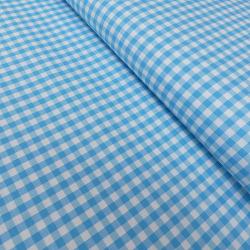Tissu Vichy DENVER turquoise