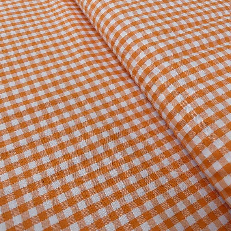 Tissu Vichy Denver Orange