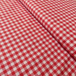 Tissu Vichy DENVER rouge