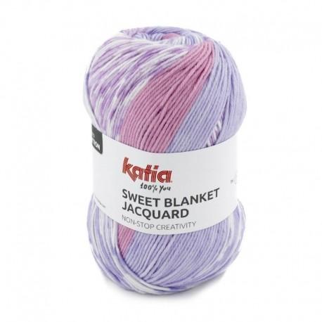 Pelote de Laine Katia Sweet Blanket Jacquard