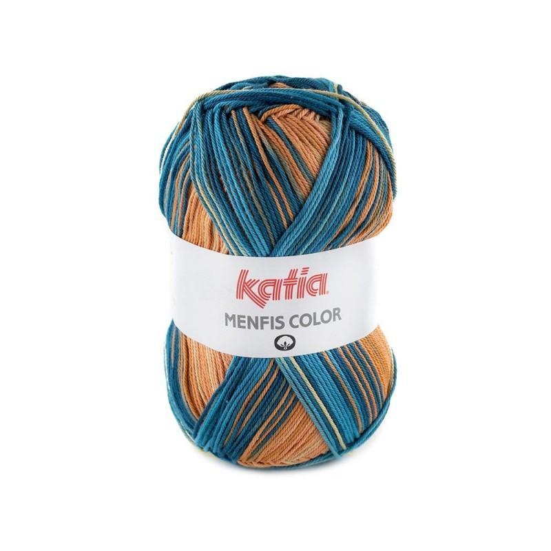 Pelote de laine Katia Menfis Color - 6 coloris