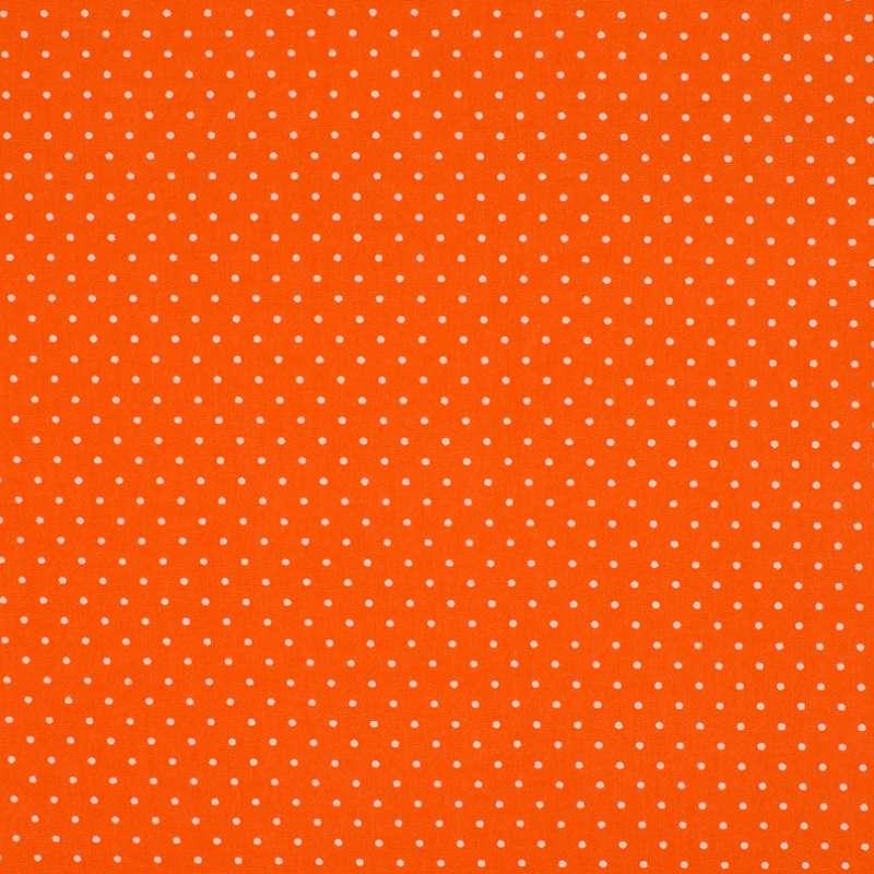 Tissu Imprimé Epingle Pois Orange