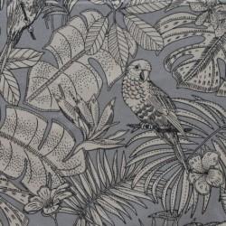 Tissu India Toile Coton Imprimée Gris