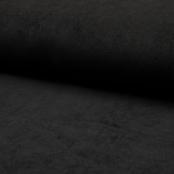 Tissu Velours Milleraies Uni Noir