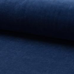 Tissu Jersey Velours Nicky Uni Jeans