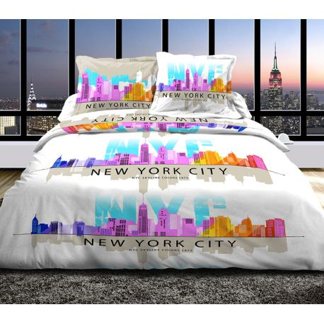 Linge de Lit Skyline Nyc Rose