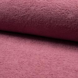 Tissu Eponge Unie Vieux Rose