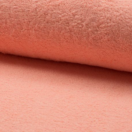Tissu Eponge Uni Saumon