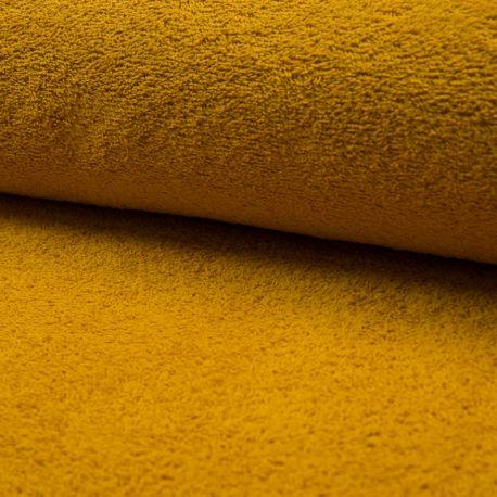 Tissu Eponge Uni Ocre