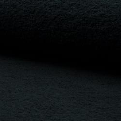 Tissu Eponge Uni Noir