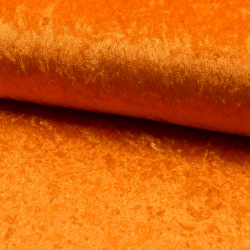 Tissu Panne De Velours Uni Orange