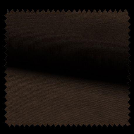 Tissu Velours Milleraie Uni Choco
