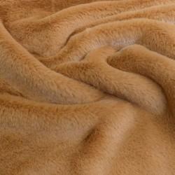 Tissu Rabbit Fausse Fourrure Uni Peanut