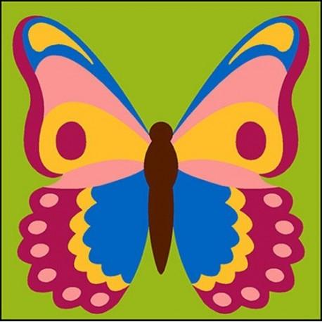 Kit Canevas Enfant Soudan Papillon